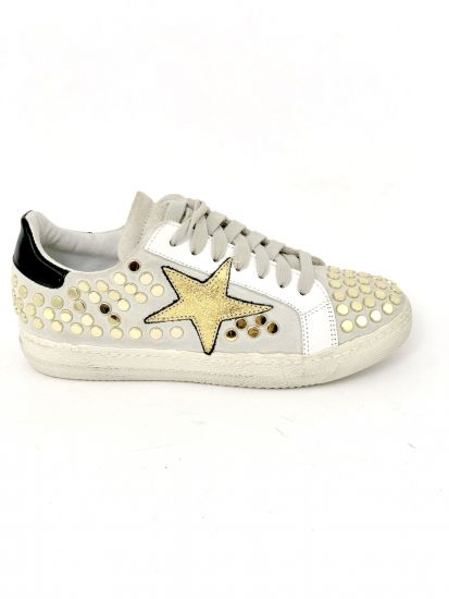 Sneakers Star and gold studs Méliné  +39LG